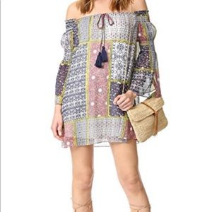 Likely barrow off the shoulder shift dress multi